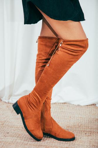 Cappmoda - Taba Streç Çizme (1)